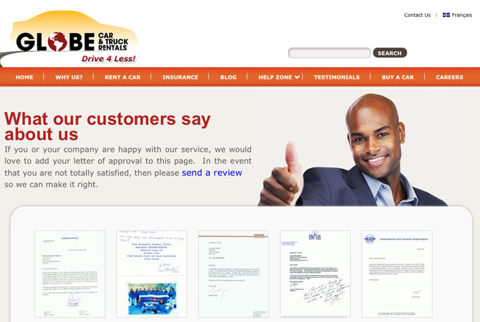 10 examples of testimonials page design