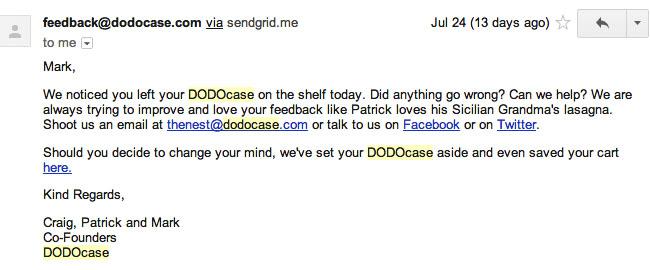 dodocase-email
