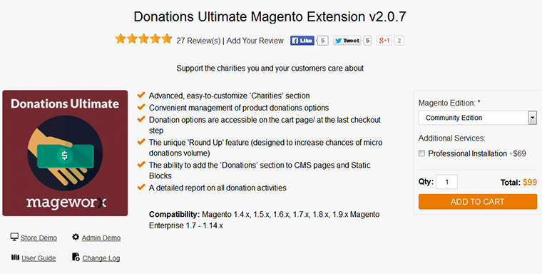 Donations Ultimate Magento Extension