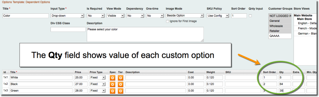 Magento Custom Options Inventory / Quantity