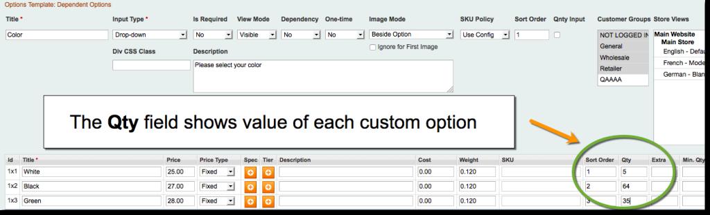 Magento Custom Options Inventory / Quantity