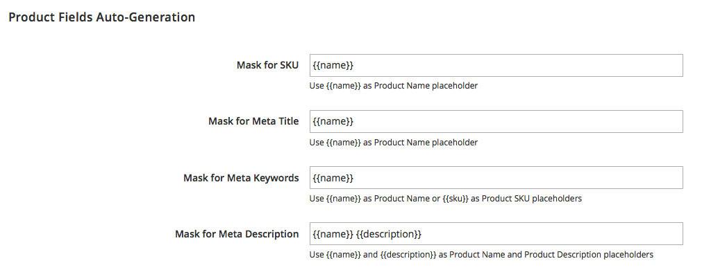 Magento 2 SEO meta data templates