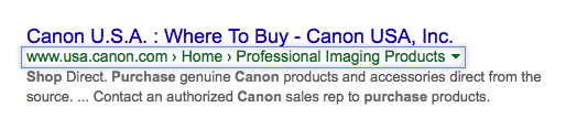 rich snippets breadcrumbs ecommerce