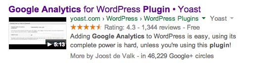 videos in rich snippets for products
