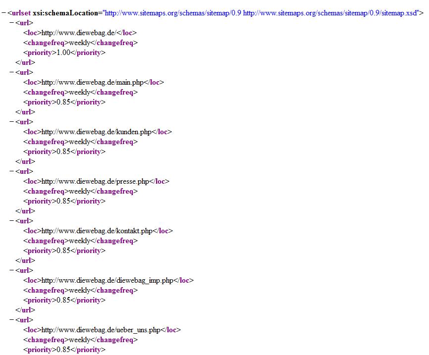 Magento XML Sitemap