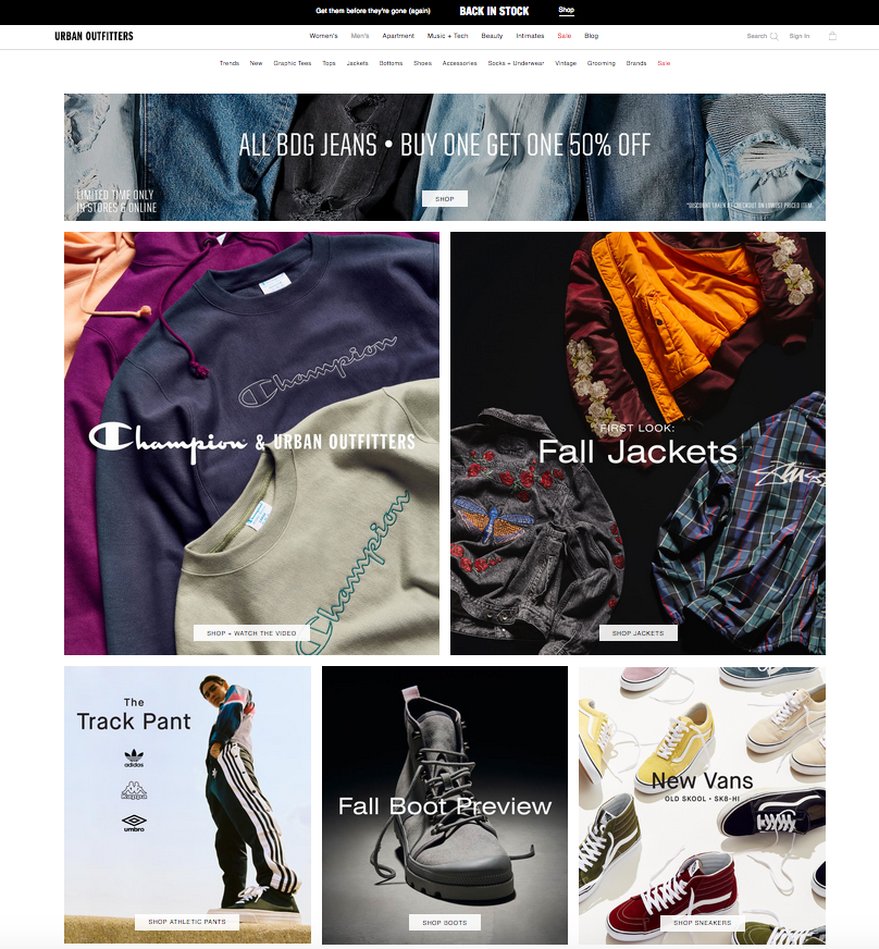 eCommerce Category Products - Using Images