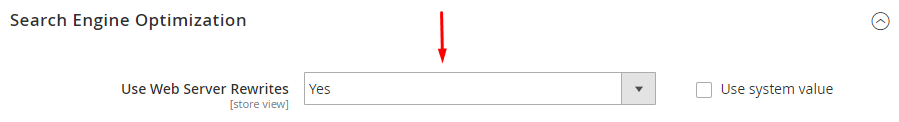 use web server rewrites
