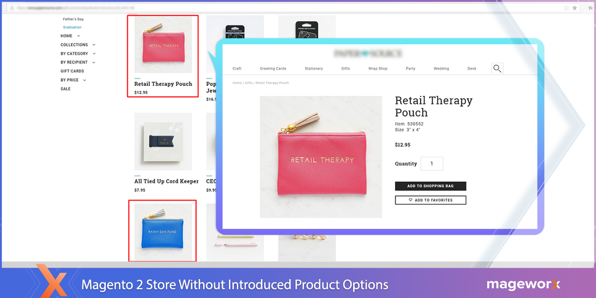 Real-life Product Examples with No Custom Product Options - Magento 2