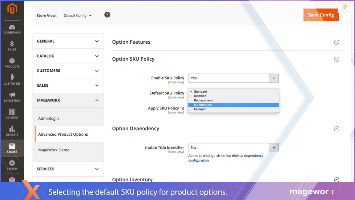 SKU Policy Configuration - Backend for Magento 2