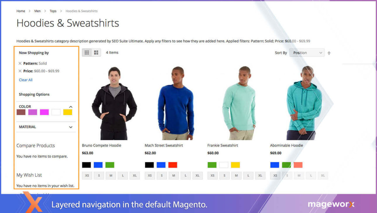 Layered Navigation in default Magento 2