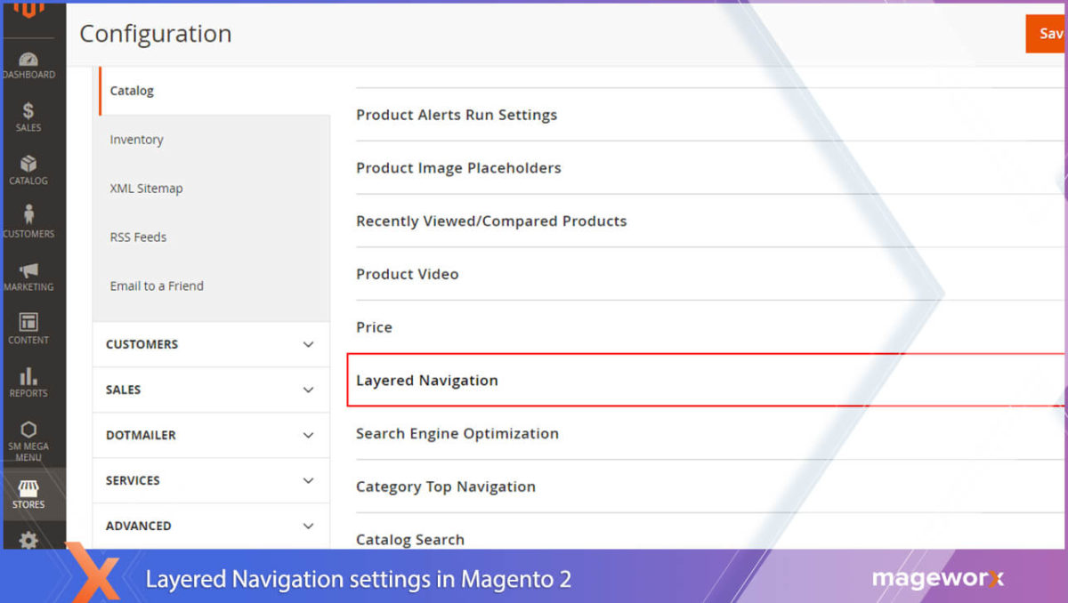 Layered Navigation in default Magento out of the box
