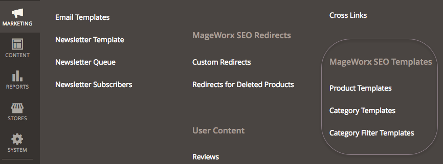 SEO Meta Template settings in Magento 2 SEO Suite Ultimate extension