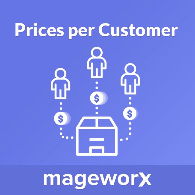 prices per customer Magento 2