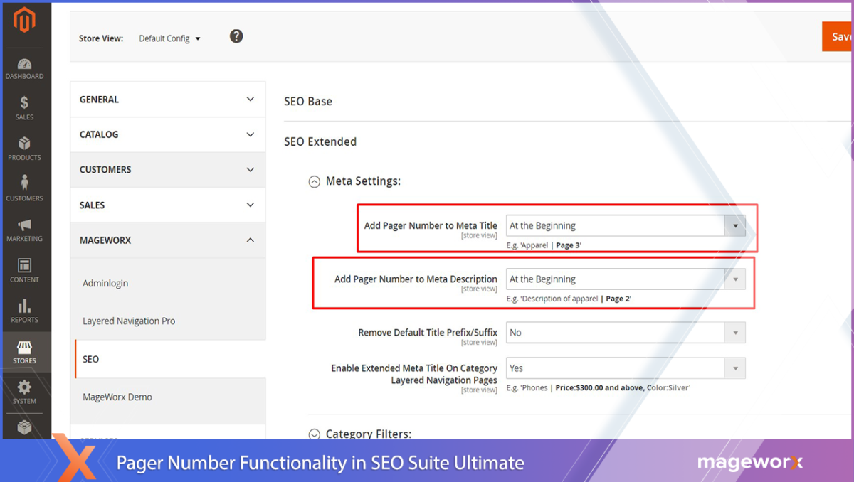Pager Number Functionality in SEO Suite Ultimate