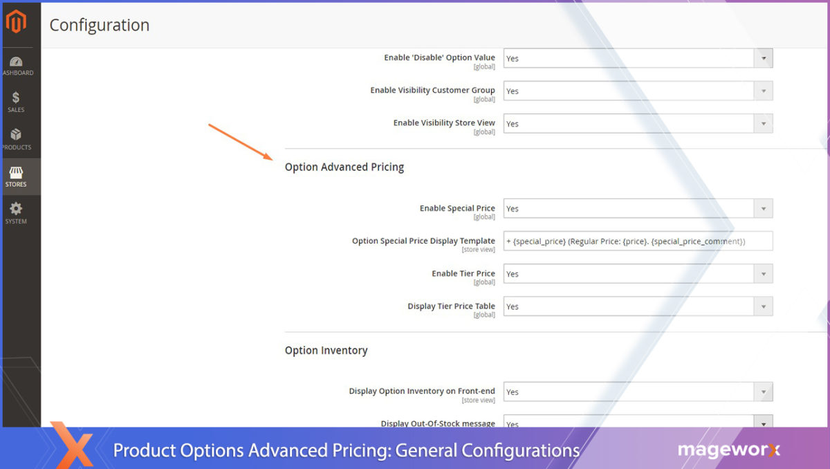 Advanced Product Options: Magento 2 tired prices