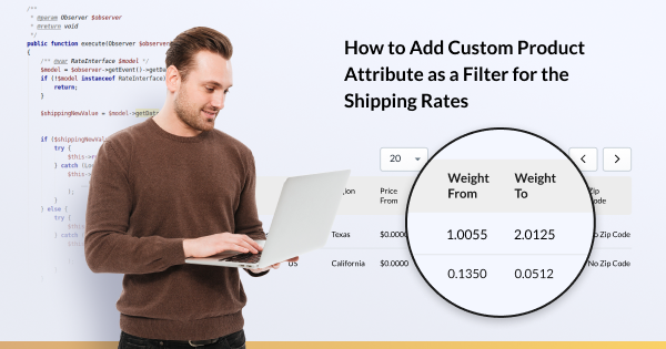 How to Add Custom Product Attribute as a Filter for the Shipping Rates