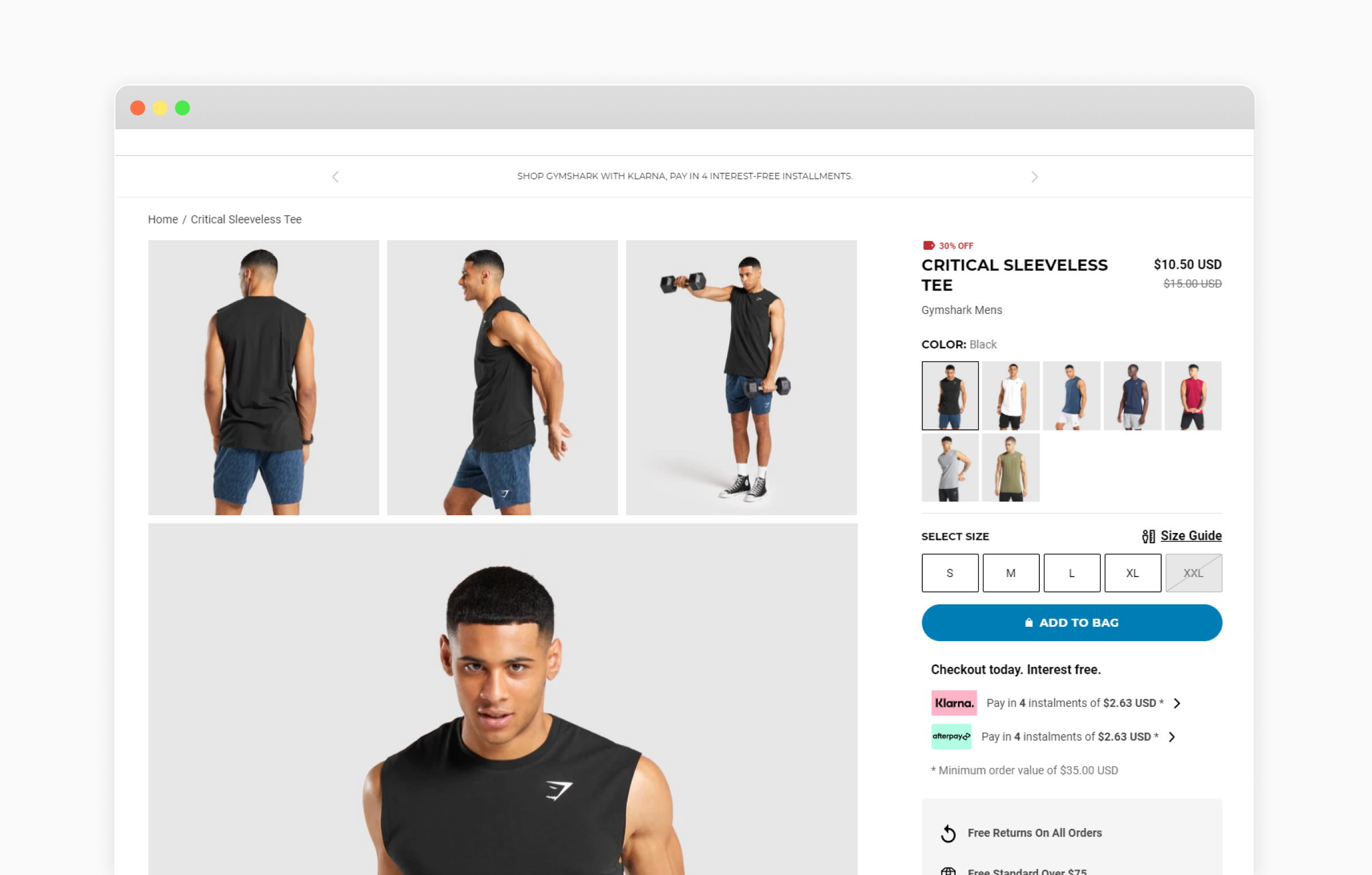 product page design