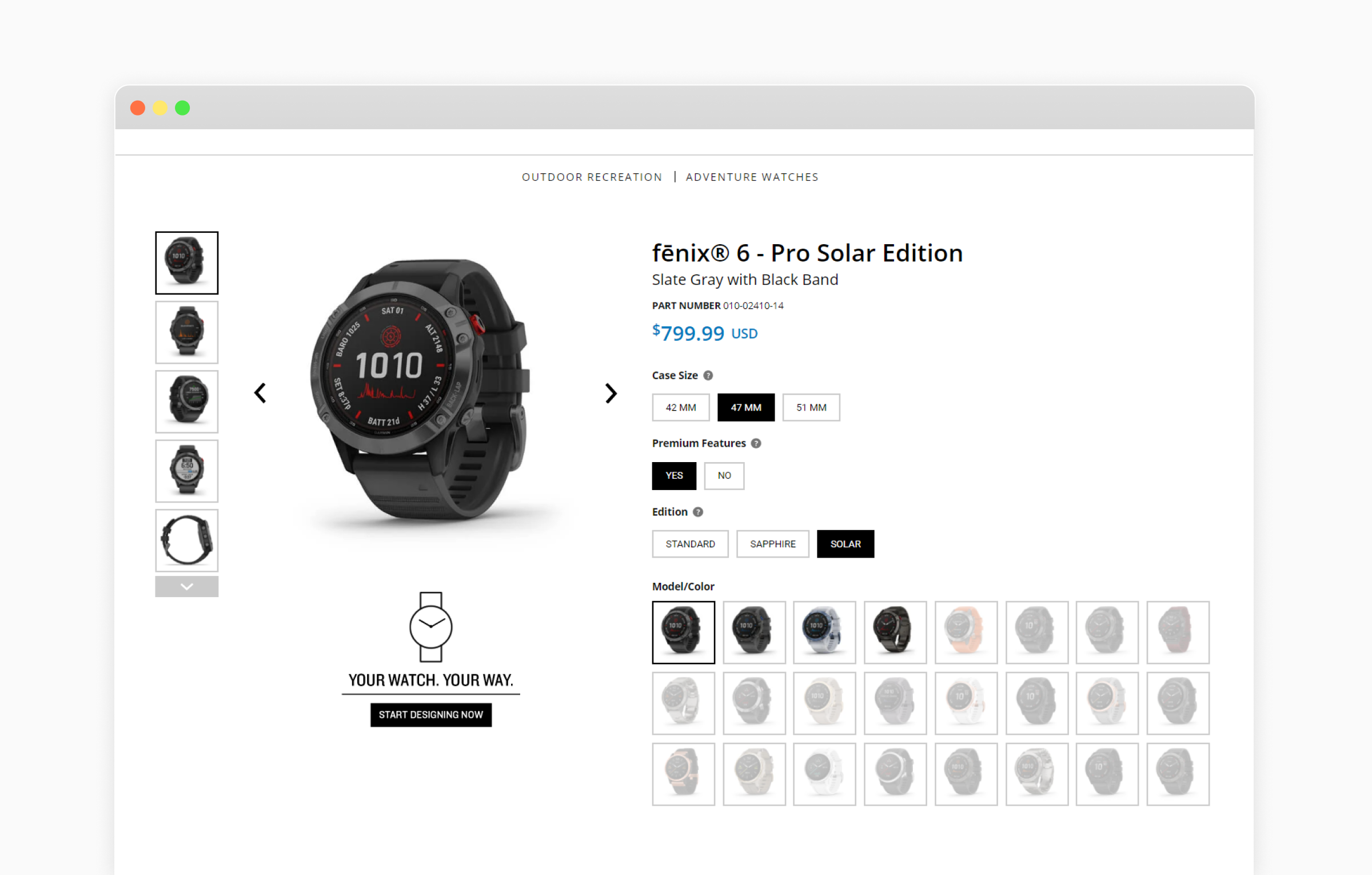ecommerce product listing page design
