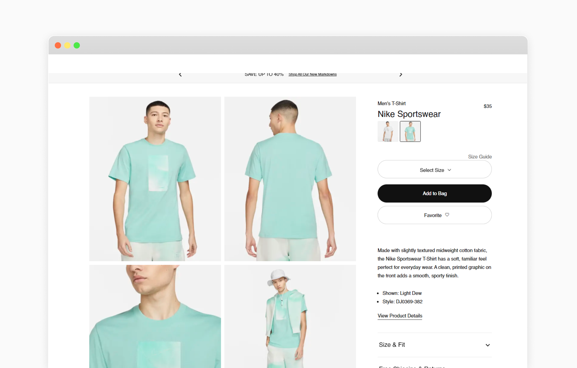 product listing page design inspiration