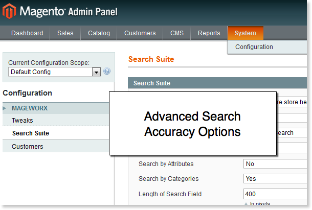 Magento search accuracy option