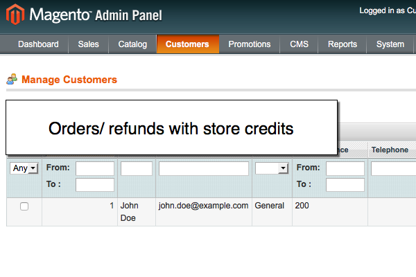 Orders/ refunds with Magento store point rewards