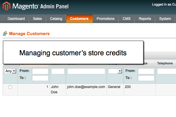 Managing Magento store credits in Mageworx Magento reward ponts extension