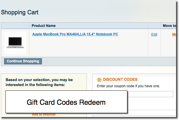 Applying Gift Card in Magento