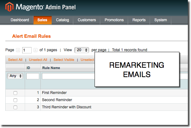 Create Emails Rules with Magento Abandoned Cart Recovery Extension