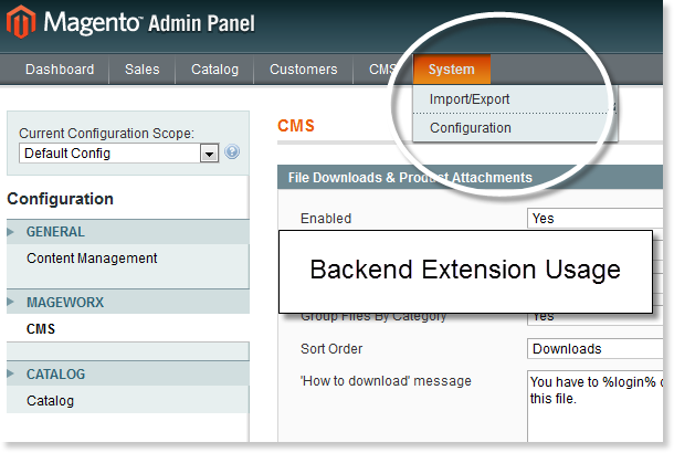 Magento File Downloads and Product Attachments Extension Backend