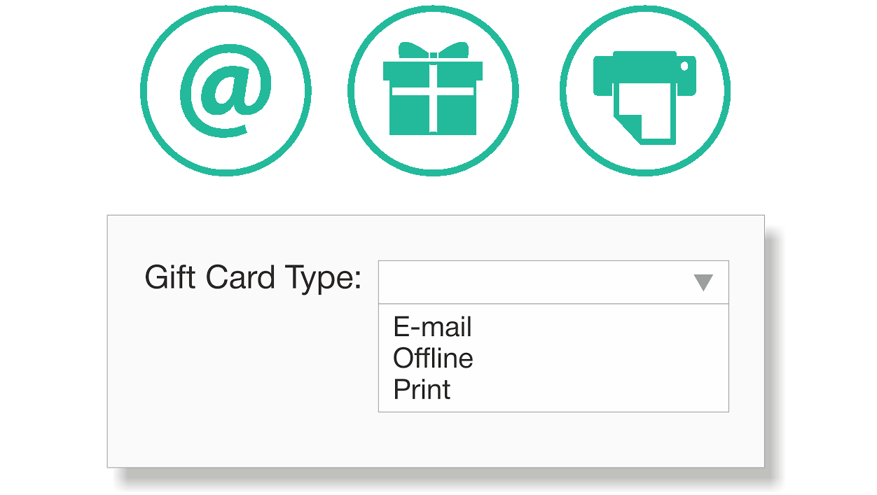 Gift Card Types in Gift Certificate Magento Extension.