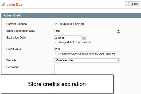 Credits Expiration in Magento Loyalty point rewards
