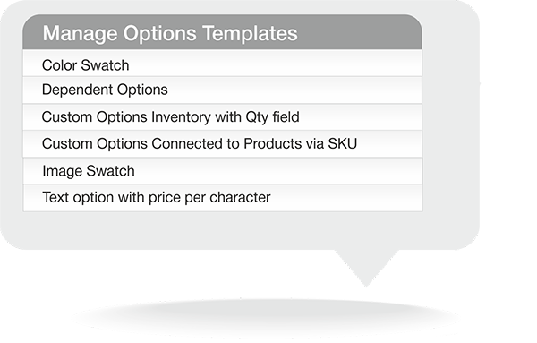 Magento Advanced Custom Options Templates