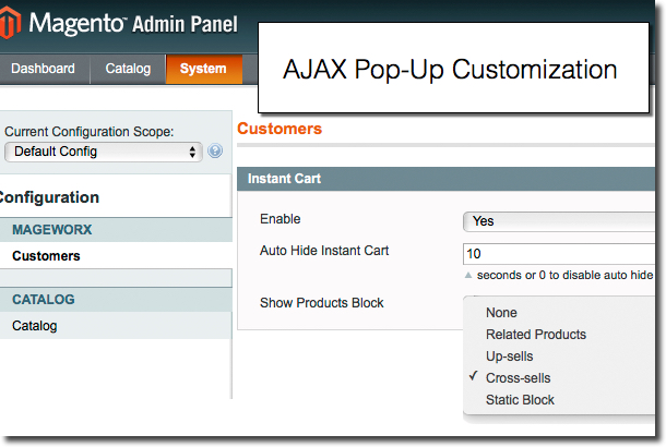 Customize ajax pop-up window according to your business needs.
