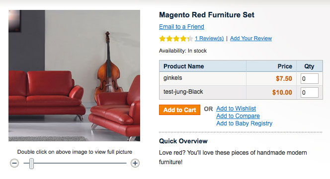 Add items to Baby Gift Registry option