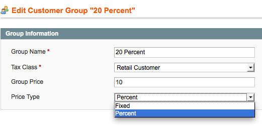 Customer Group Prices extension for Magento