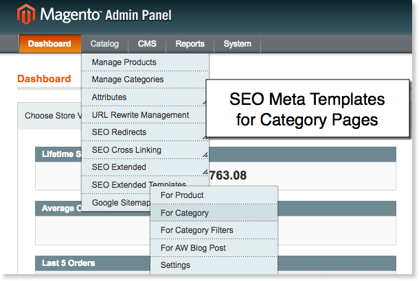 Magento SEO Templates for Category Pages