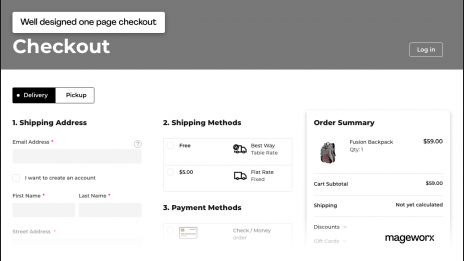 Magento 2 One Step Checkout on the front-end