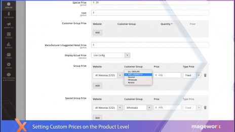 Custom prices on the product level,Custom prices on the customer group level,Customer prices suite: import/export functionality,Special product pricing: backend,Personalized customer prices: frontend ,Ability to manually select customers: discounts & coup