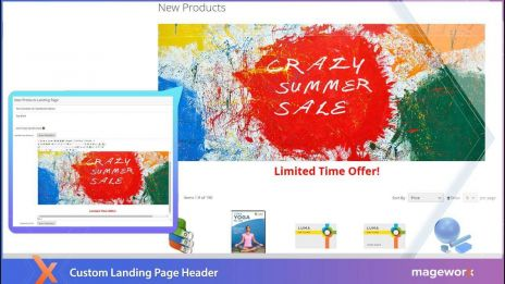 Landing Pages extension for Magento 2 - Custom Header