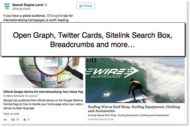 Magento rich snippets, Facebook open graph and twitter cards optimization.