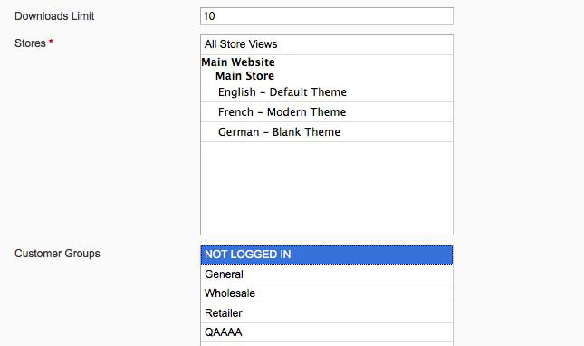 Magento front-end sitemap