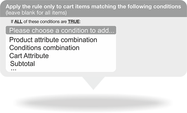 Define conditions for each fee in Magento Multi Fees Extension.