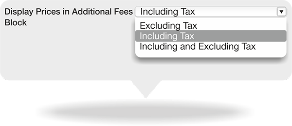 Set tax classes for any extra fee