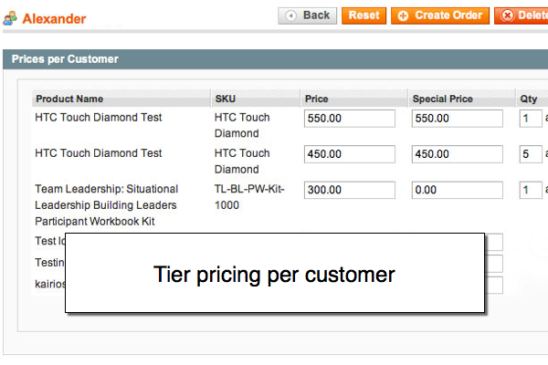 Magento Prices per Customer