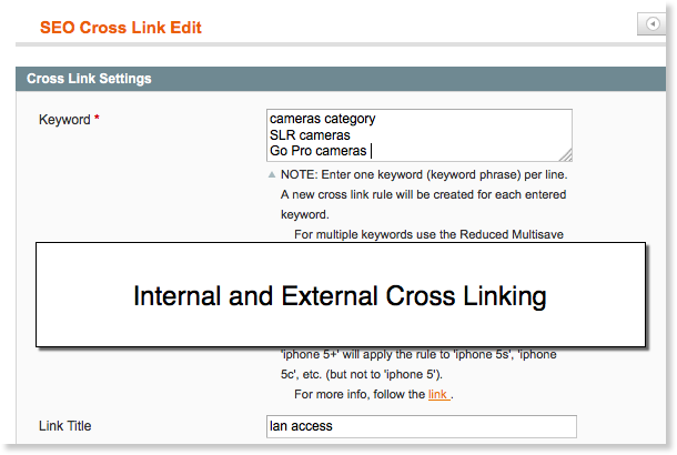 Magento SEO: Magento cross links.