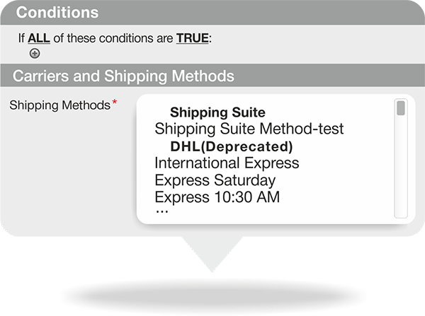 Shipping rule in Magento custom shipping method extension
