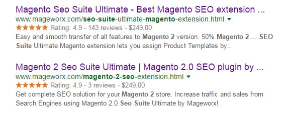 Magento 2 rich snippets