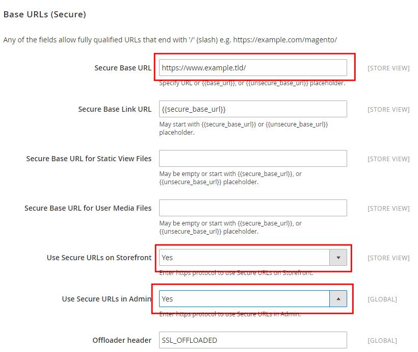 Magento 2 HTTPS configuration