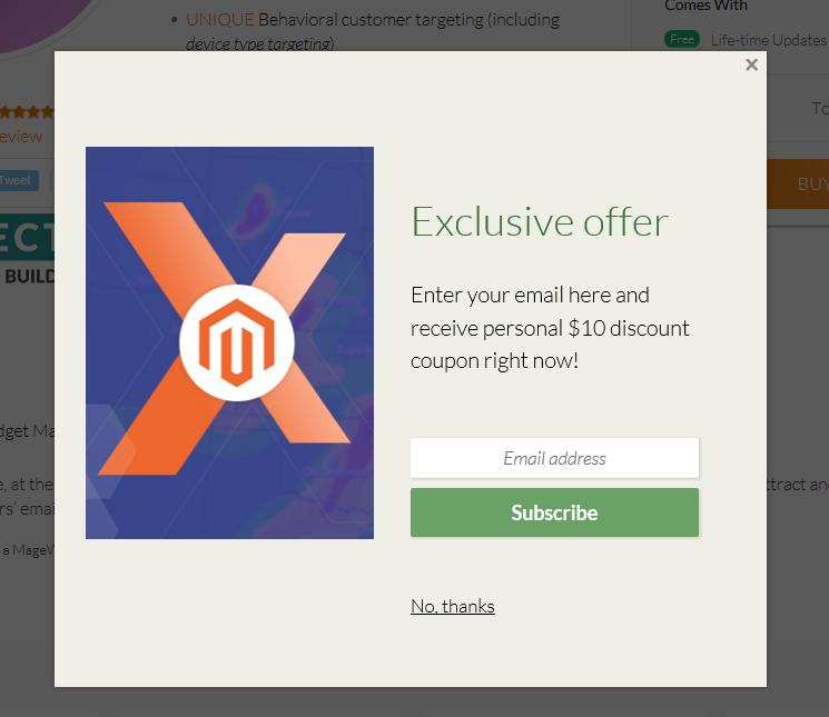 Magento 2 subscription