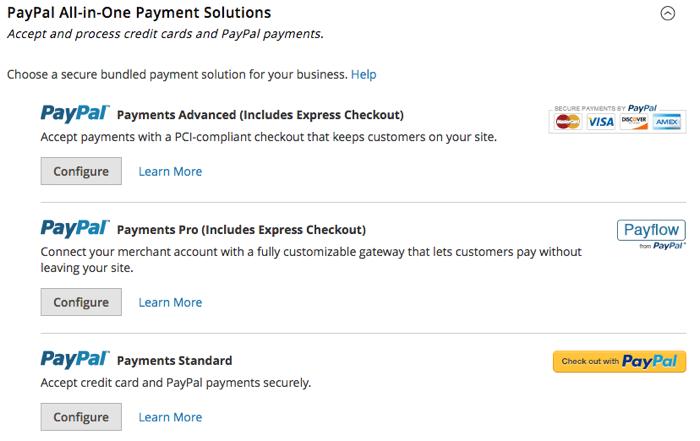 Magento 2 Paypal config